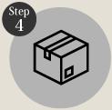 タイヤ良販本舗の「step4お支払い方法を入力する」ロゴ画像