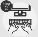 タイヤ良販本舗の「step2お客様情報を入力する」ロゴ画像
