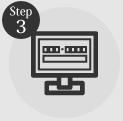 タイヤ良販本舗の「step3送付先情報を入力する」ロゴ画像