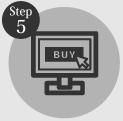 タイヤ良販本舗の「step5入力内容を確認する」ロゴ画像