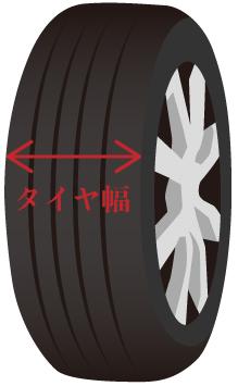 タイヤ良販本舗のタイヤ幅の画像