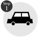 タイヤ良販本舗の「step1商品をカートに入れる」ロゴ画像