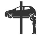 タイヤ脱着作業の画像